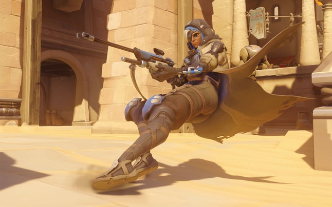 Ana's biotic grenade negates enemy healing for a short time.
