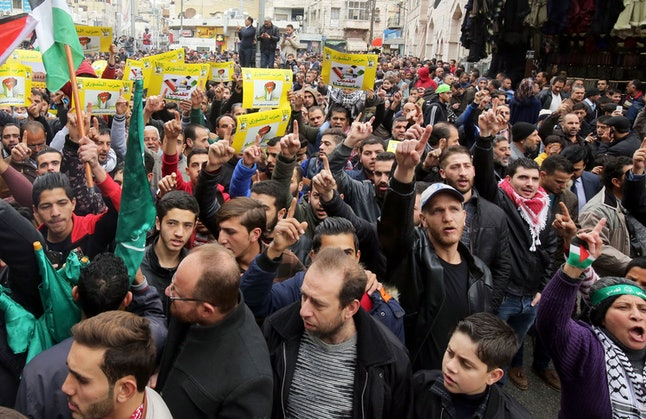 Protesters in Jordan demonstrate on Dec. 29 against President Donald Trump's decision to recognize Jerusalem as the capital of Israel.