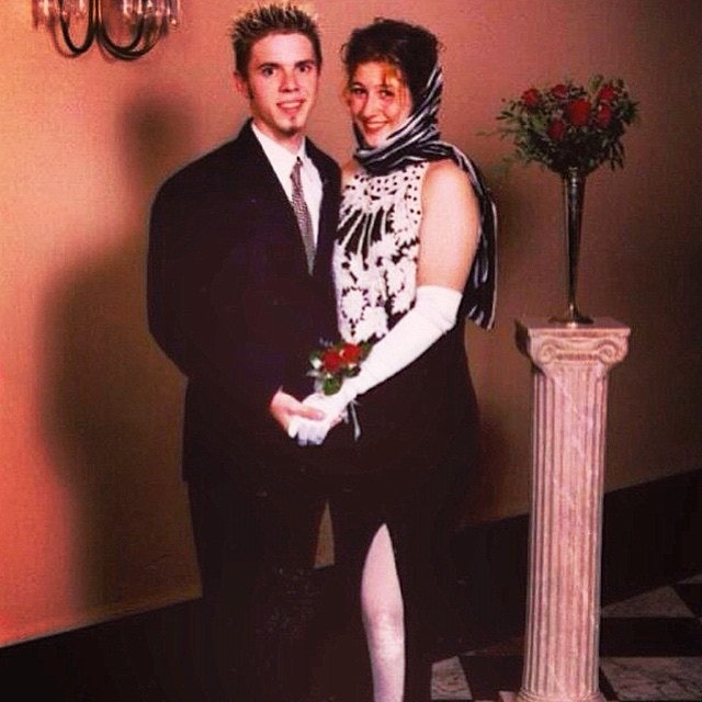 Jake Shears in 1996, attending his high school prom