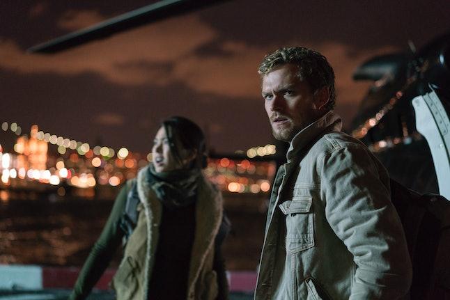 Jessica Henwick and Finn Jones in 'The Defenders'.