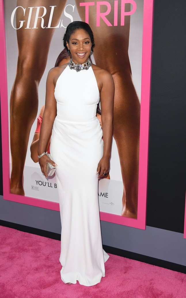 Tiffany Haddish in that Alexander McQueen dress at the 'Girls Trip' premiere