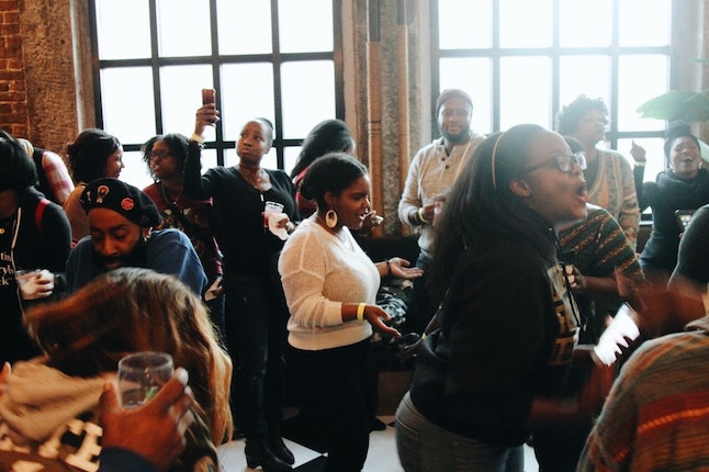 Kwanzaa Crawl teams party for two hours at four different bars throughout the afternoon.