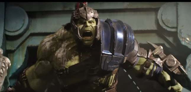 A first look at Hulk in 'Thor: Ragnarok.'