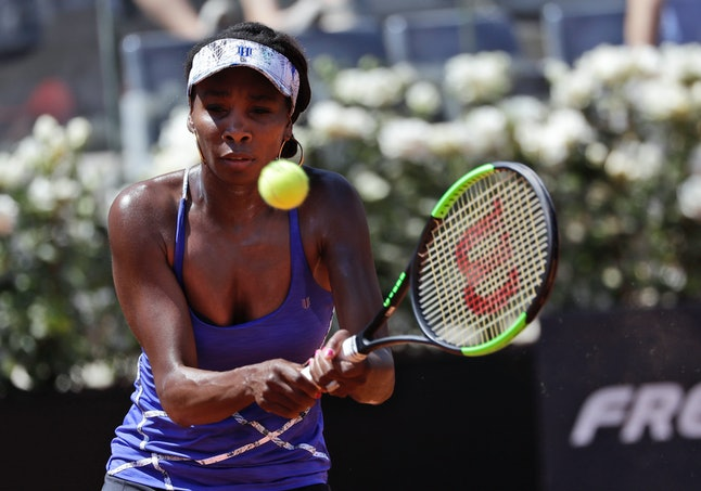 Venus Williams pictured during a match at the Italian Open tennis tournament in Rome