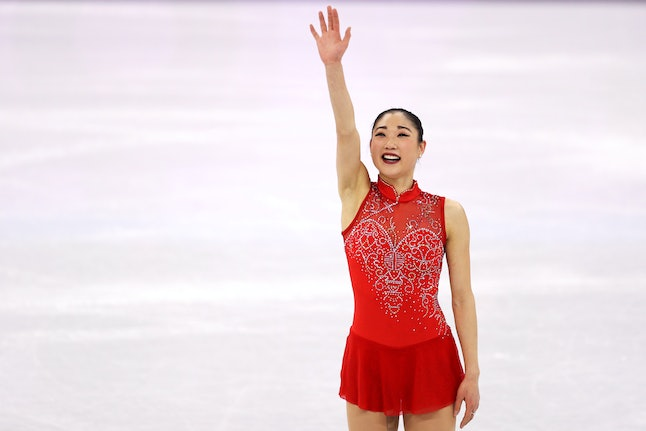 Mirai Nagasu after competing in the figure skating event at the Olympics