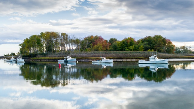 Fall foliage in Kennebunkport