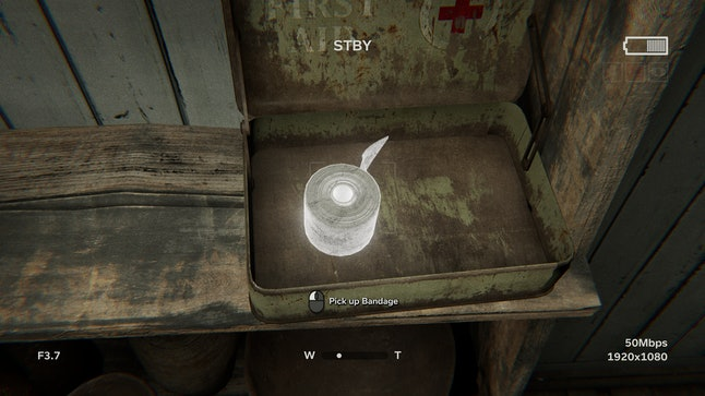 A bandage found in Outlast 2 in a first aid kit.