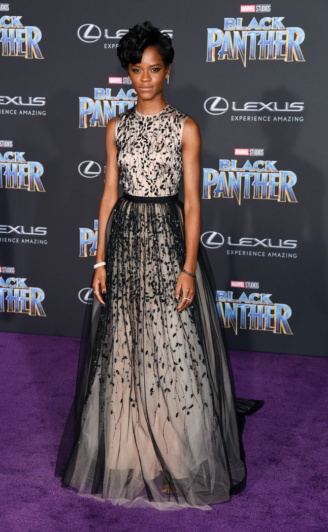 Letitia Wright at the Los Angeles World Premiere of 'Black Panther'