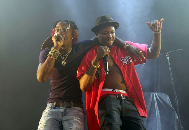 Rappers Rich Homie Quan and YG open for J. Cole at Aaron's Amphitheater Aug. 15