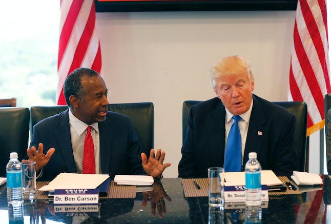 """Trump once said that Carson """"has never created a job in his life."""""""