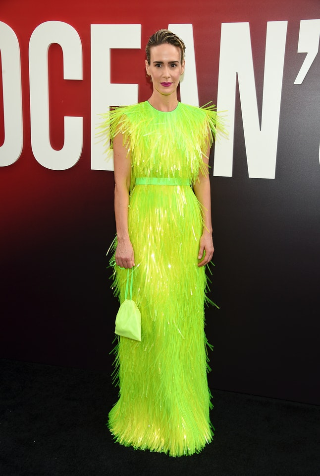Sarah Paulson attends the world premiere of 'Ocean's 8'
