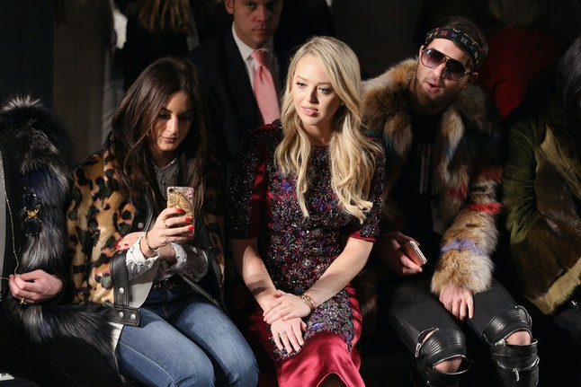 Tiffany Trump at the Dennis Basso show during NYFW in February 2017