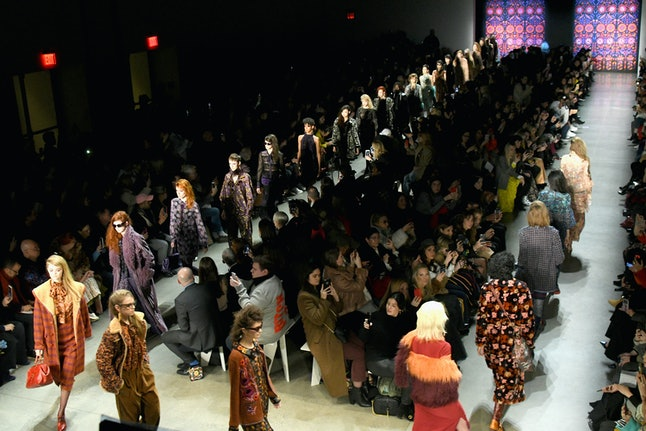 The Anna Sui show at NYFW in February