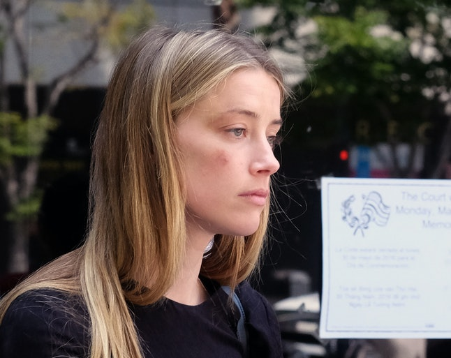 Amber Heard appeared for court proceedings on May 31 with bruises on her face.