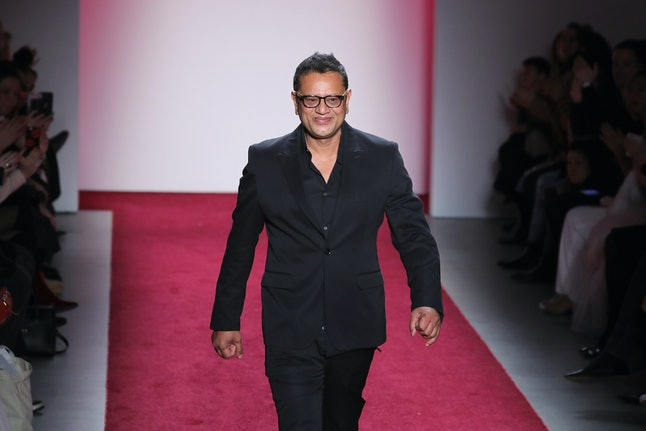 Naeem Khan after his fashion show in February