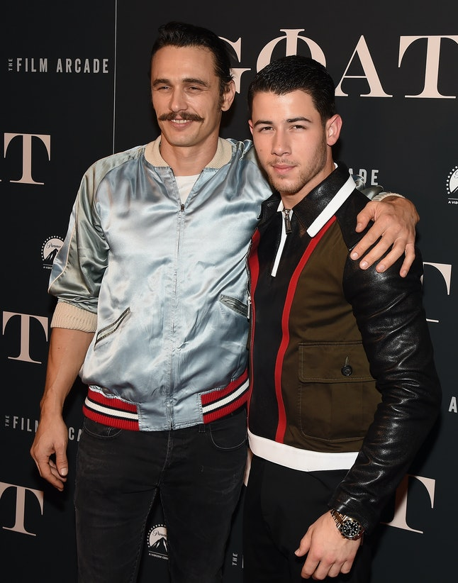 'Goat' stars James Franco and Nick Jonas