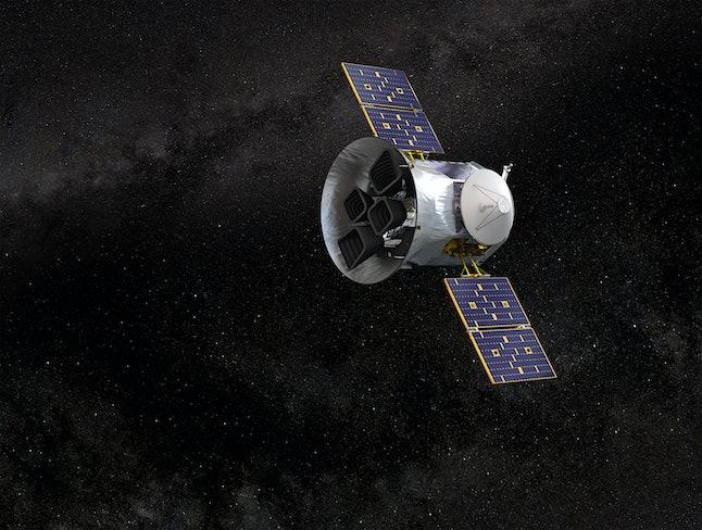 Illustration of NASA's Transiting Exoplanet Survey Satellite:TESS