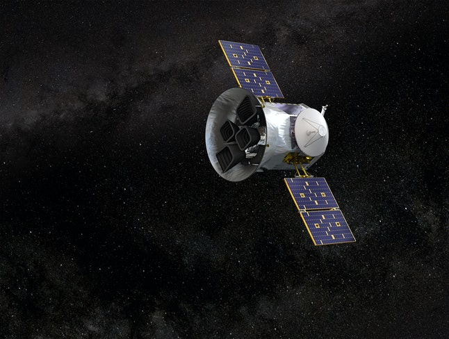 Illustration of NASA's Transiting Exoplanet Survey Satellite:TESS