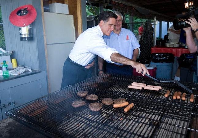 Just a regular American guy grilling regular American food.