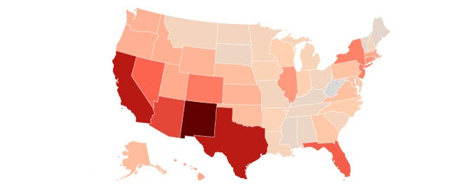 Hispanics play a bigger role in elections in states like New Mexico, where they make up 42.6% of all eligible voters.