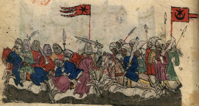 Muslim forces of the Rashidun Caliphate captured the Levant — a region of the Middle East — from the Byzantine Empire in A.D. 636.