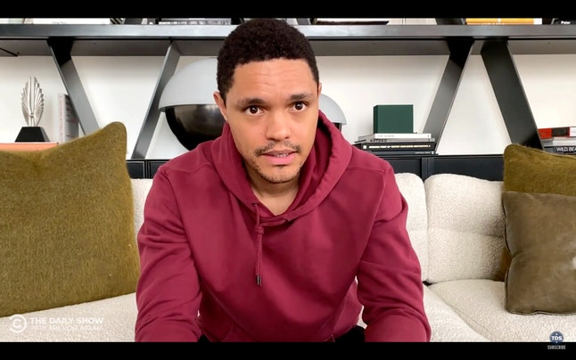 Trevor Noah has been hosting The Daily Show from his apartment.