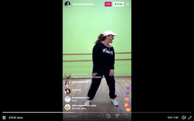 Debbie Allen hosted a dance class on her Instagram. Aww!!