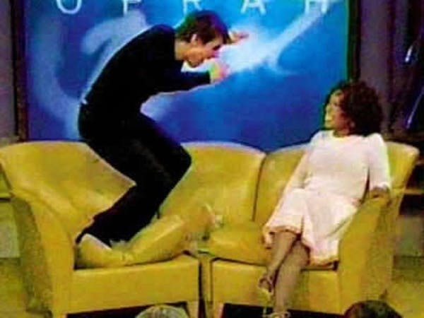 In 2005, Tom Cruise jumped on Oprah's couch. The moment became a cultural touchstone – and the image became a meme.