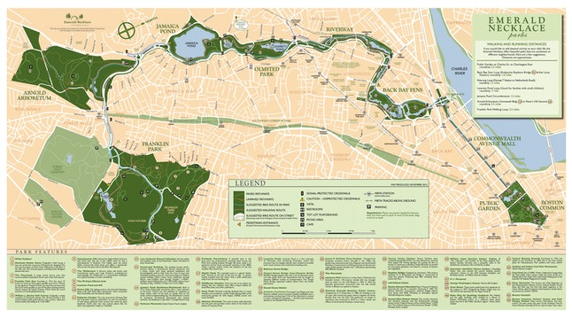 Boston's Emerald Necklace park system today.