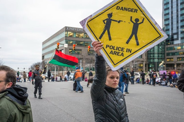 Protesters took to the street the day after a grand jury declined to indict Cleveland Police Officer Timothy Loehmann for the fatal shooting of 12-year-old Tamir Rice in November 2014.