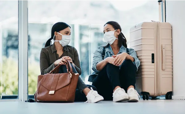 Wearing face masks is still important, especially when traveling.