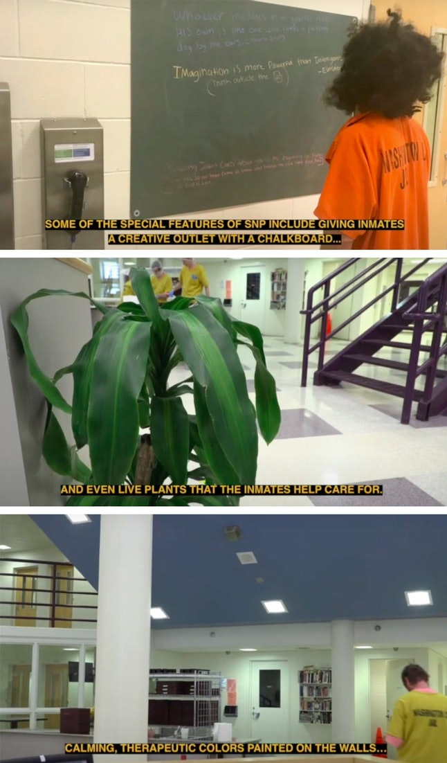 """A recent video produced by the Washington County Jail showed services provided by the """"special needs"""" unit to prisoners."""