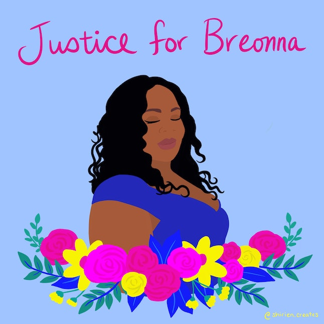 """I used pastels to create a dreamy and calming feel and combined bold, vibrant colors to invoke the feeling of hope and inspiration to take action. Flowers symbolize life and growth, in defiance of systemic violence and oppression."""