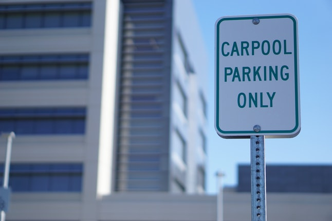 carpool parking space sign