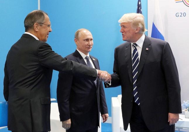 Vladimir Putin, Sergei Lavrov and Donald J. Trump