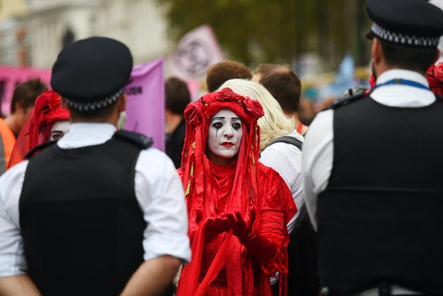 Red Brigade protesters in Westminster