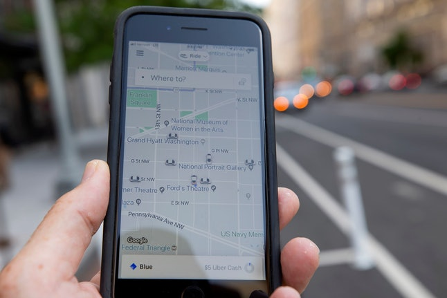 The Uber rideshare application on an iPhone in Washington, DC, USA, 08 August 2019. Uber, based in San Francisco, California, posted its largest quarterly loss of more than five billion US dollars, according to the company's 2019 second quarter corporate reporting.