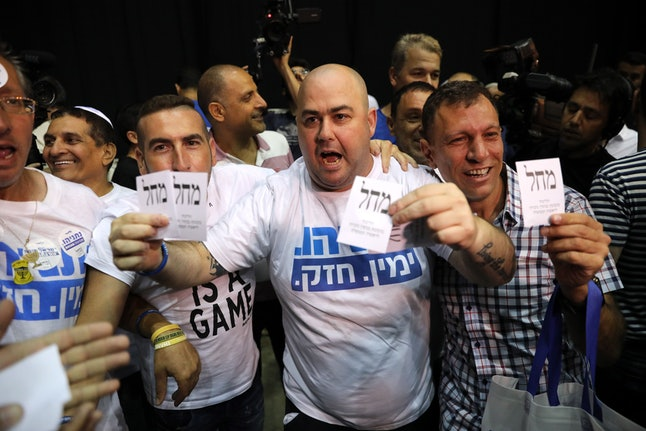 Prime Minister's Benjamin Netanyahu Likud Party supporters at the Likud party final elections event of the Israeli general elections, in Tel Aviv, Israel, 17 September 2019.  Israelis headed to the polls for a second general election, following the prior elections in April 2019, to elect the 120 members of the 22nd Knesset, or parliament. According to the Israel Central Bureau of Statistics, about six million people were eligible to vote.