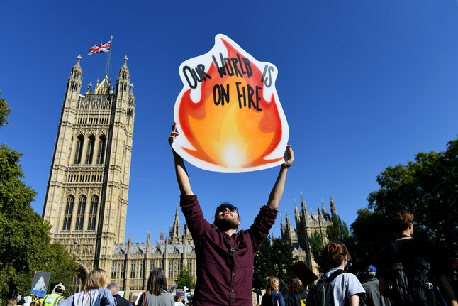 People join a global demonstration demanding action on climate change