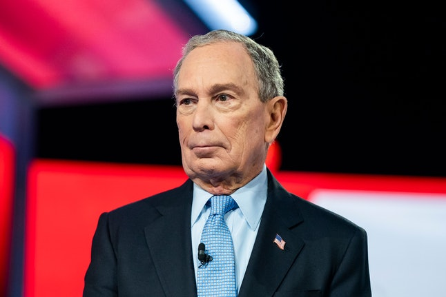 Democratic presidential candidate, former New York City Mayor Michael Bloomberg, stands on stage during the tenth Democratic presidential debate at the Gaillard Center in Charleston, South Carolina, USA, 25 February, 2020. The South Carolina primary is scheduled for 29 February 2020.