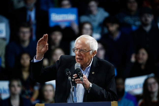 Democratic presidential candidate Sen. Bernie Sanders, I-Vt., speaks during a campaign event, in Spartanburg, S.C