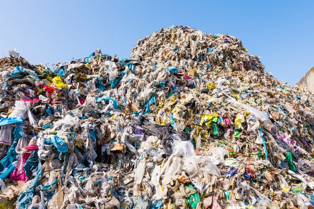 waste plastic bottles and other types of plastic waste