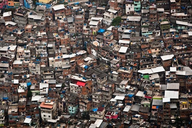 Favela da Rocinha, the Biggest Slum (Shanty Town) in Latin America. Located in Rio de Janeiro, Brazil, it has more than 70,000 inhabitants.